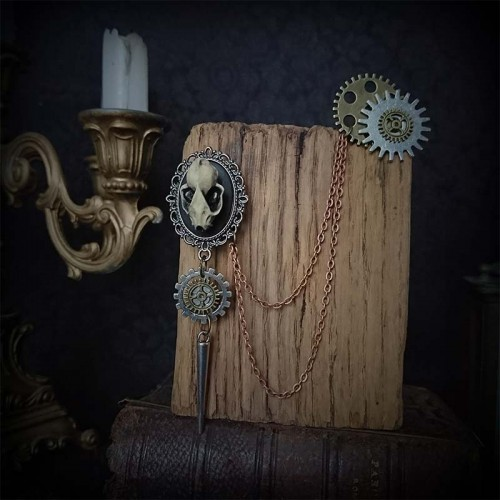 Broche steampunk double,...