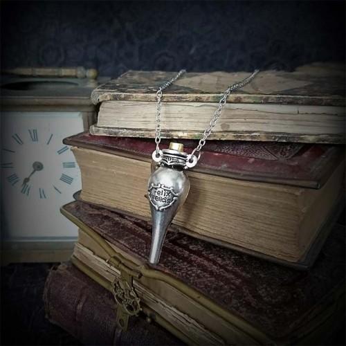 Collier pendentif Fiole...