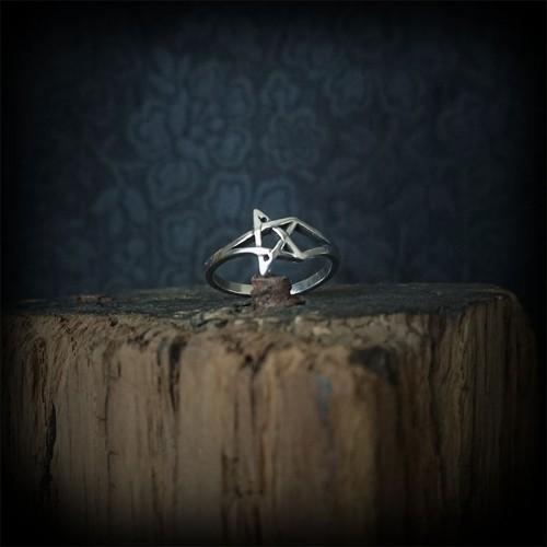 Bague pentagramme plaqué...