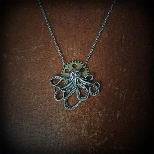 "Collier steampunk ""Octopus""..."