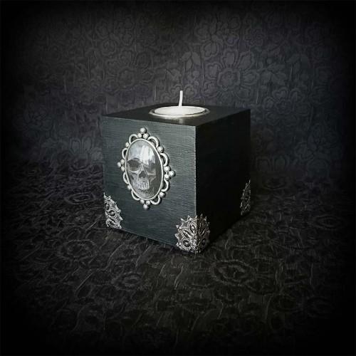 Bougeoir gothique cube en...