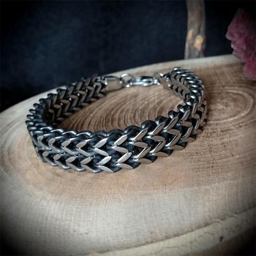 Bracelet large acier...