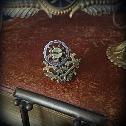 Bague horloge steampunk...