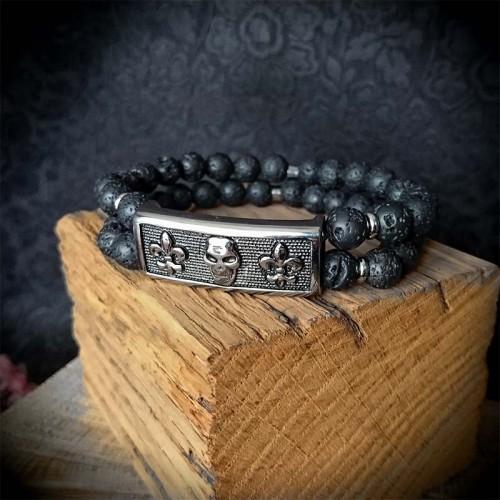 Bracelet 2 rangs perles de...