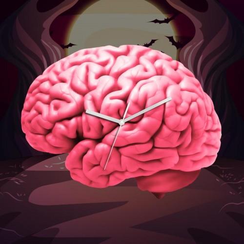 Horloge cervelle rose