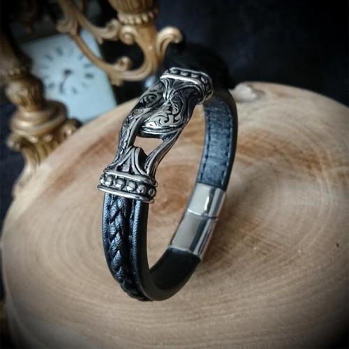 Bracelet simili cuir noeud...