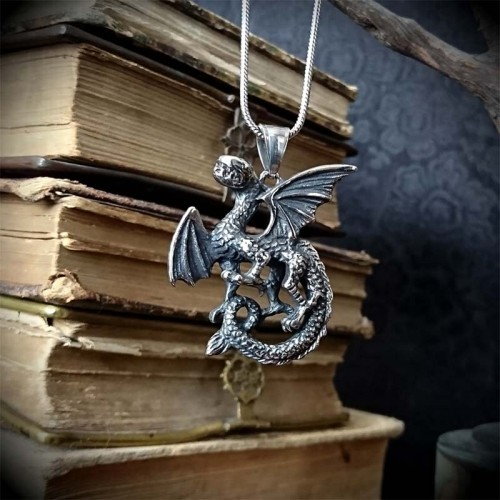 Collier Pendentif Dragon...