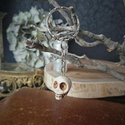 Porte-clés tête de mort...
