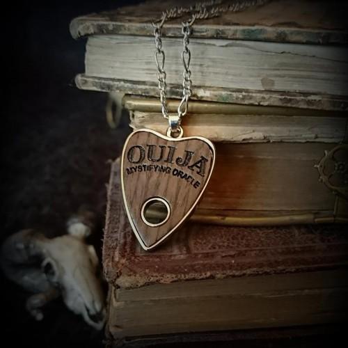 Collier Ouija imitation bois