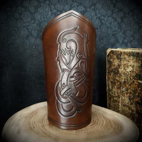 Bracelet viking cuir...