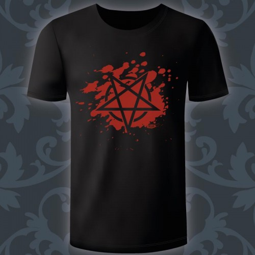 T-shirt Homme Blood Pentagram