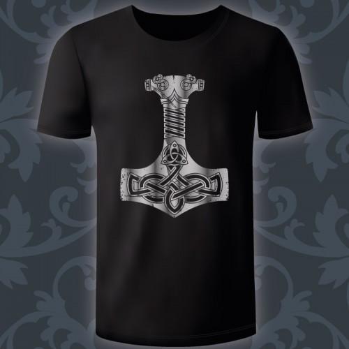T-shirt Homme Mjolnir argent