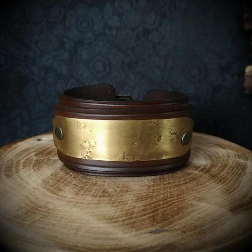 Bracelet steampunk cuir...