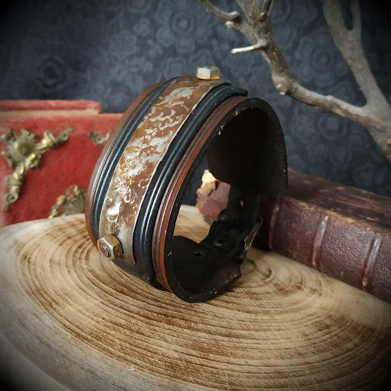 bracelet cuir steampunk