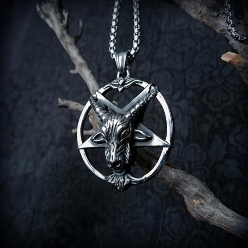Collier gothique Baphomet,...
