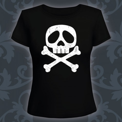 T-shirt Femme Tête de mort...