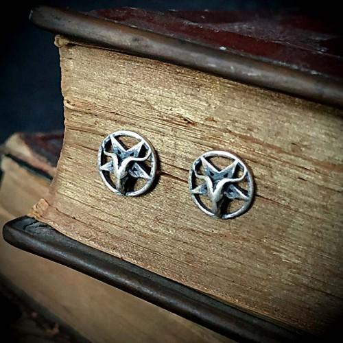 Boucles d'oreilles Baphomet...