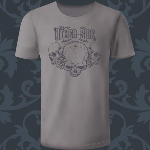 T-shirt Homme gris chiné...