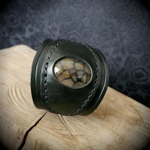 Bracelet gothique cuir...