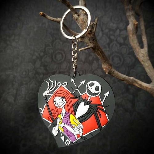 Grand porte-clés coeur Les...