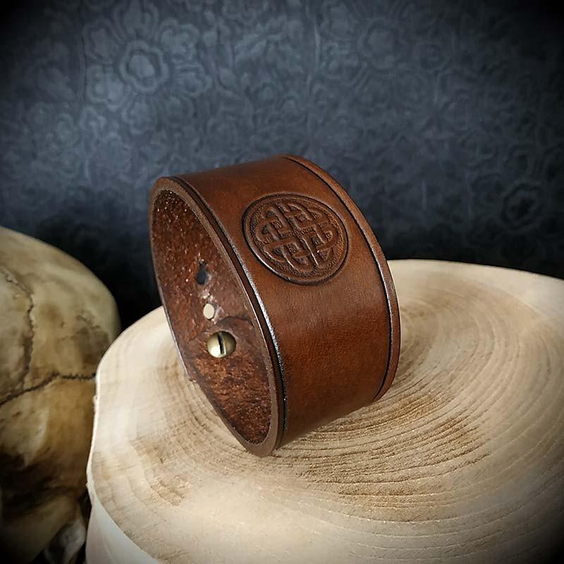bracelet cuir celtique