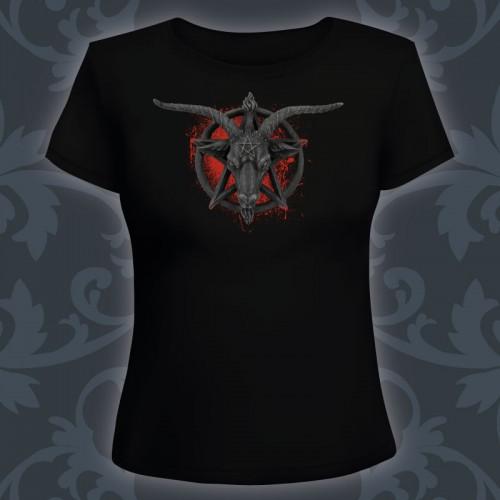 T-shirt Femme Baphomet blood
