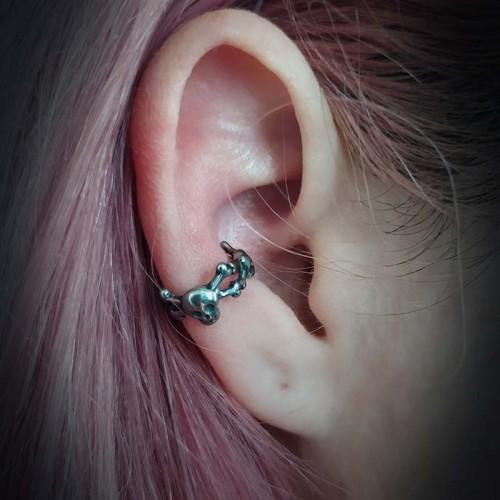 Boucles d'oreilles tête de...