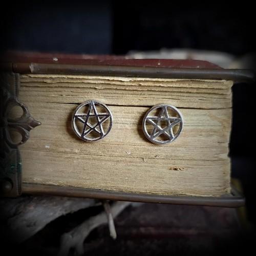 Boucles pentagramme argent 925