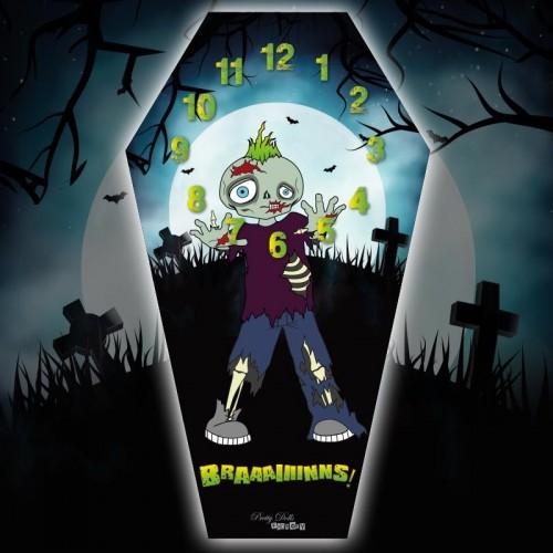 Horloge Cercueil Zombie
