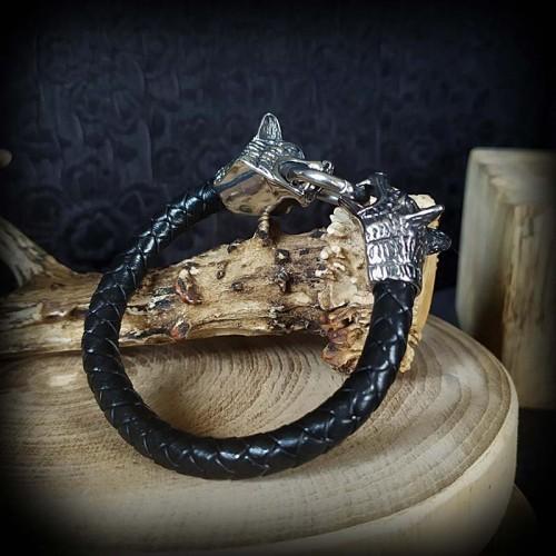 Bracelet tressé simili cuir...