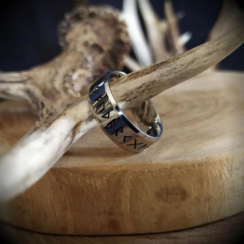 Bague Anneau runes viking...