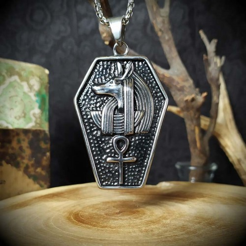 Collier pendentif Anubis et...