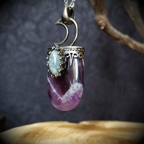 Collier pierre violette en...