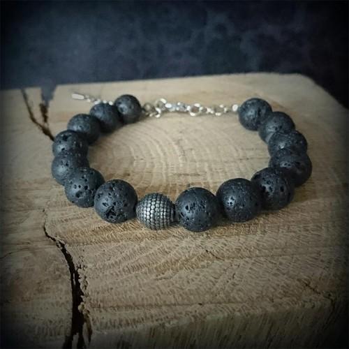 Bracelet perles de lave...