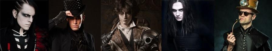Bijoux et accessoires pour homme, gothique, steampunk, rock, métal...